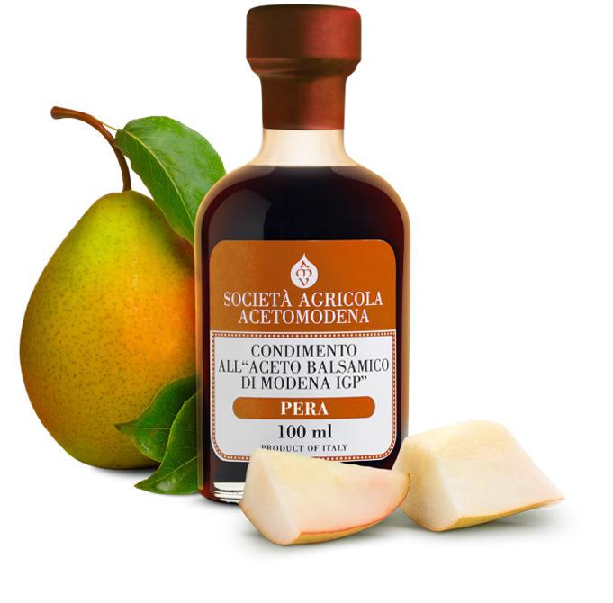 pear condiment with balsamic vinegar of modena